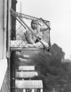 Baby cages for 1930s apartment