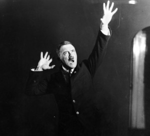 Hitler rehearsing his speeches in front of a mirror (1925)