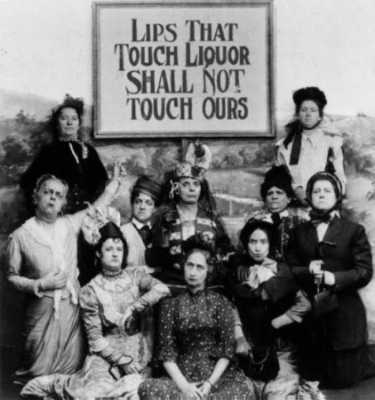Sarcastic photo taken by anti-prohibitionists to mock their opponents in 1919