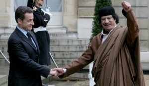 Libyan leader Muammar Gaddafi visits