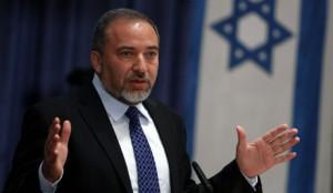Israeli Foreign Minister Avigdor Lieberman in Jerusalem speaking to foreign diplomats