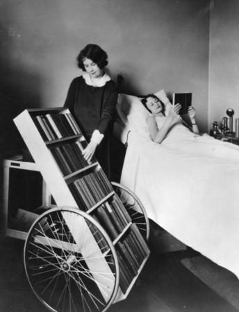 The LA Public Library's bookmobile program for the sick. (1928)