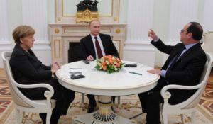 Mosca, concluse le trattative tra Putin, Hollande e Merkel
