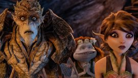 "Bog King (voice of Alan Cumming), Griselda (voice of Maya Rudolph) and Marianne (voice of Evan Rachel Wood) are part of a colorful cast of goblins, elves, fairies and imps in ""Strange Magic,"" a madcap fairy tale musical inspired by ""A Midsummer Night's Dream."" Released by Touchstone Pictures, ""Strange Magic"" is in theaters Jan. 23, 2015. Strange Magic © & TM 2014 Lucasfilm Ltd. All Rights Reserved."