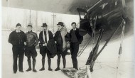1934: American pilot and Russian polar heroes in Fairbanks, Alaska
