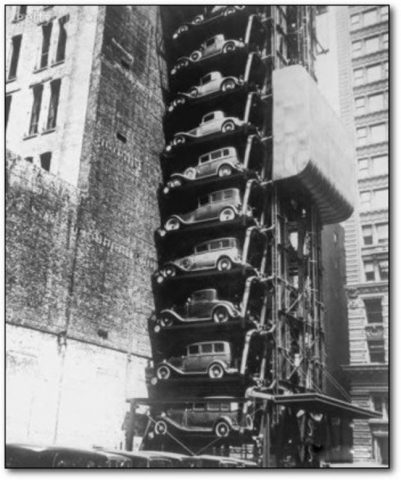 "Model T ""Elevator Garage"" in Chicago. (1936)"