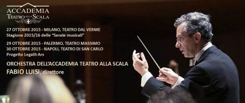 Fabio Luisi dirige l'Orchestra dell'Accademia Teatro alla Scala a Milano, Palermo e Napoli
