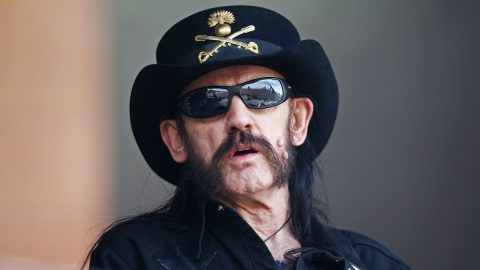 """LONDON, ENGLAND - JULY 04:  """"Lemmy"""" (Ian Fraser Kilmister) of Motorhead performs on stage at British Summer Time Festival at Hyde Park on July 4, 2014 in London, United Kingdom.  (Photo by Dave J Hogan/Getty Images)"""