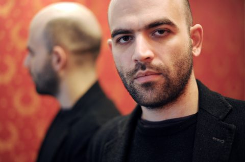 Italian writer Roberto Saviano gives an