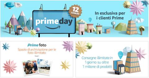 Prime Day 2016: il 12 luglio oltre 100.000 promozioni a livello mondiale in esclusiva per i clienti Prime