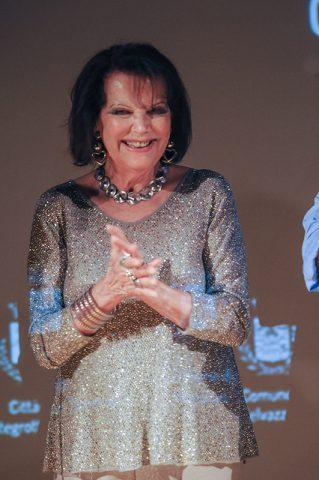 Monselice 17-07-2016 Villa Duodo. Assegnati i premi di Euganea Film Festival. Cast di un film in lavorazione a Monselice. Claudia Cardinale.